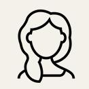 女性の人型アイコン