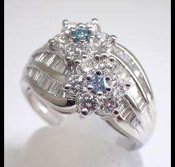 ブルーダイヤモンドの買取事例01_ブルーダイヤモンド リング