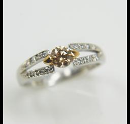 ブラウンダイヤモンドの買取事例03_ブラウンダイヤモンド リング