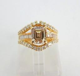 ブラウンダイヤモンドの買取事例05_ブラウンダイヤモンド リング