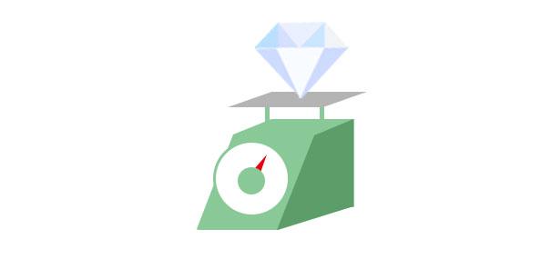 ダイヤモンドのカラットの測り方