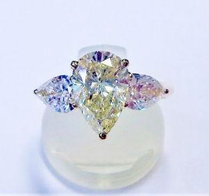 カラーダイヤモンドの買取事例01_イエローダイヤモンドのリング