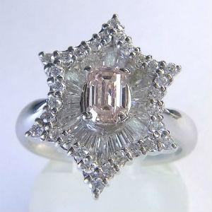 カラーダイヤモンドの買取事例02_ピンクダイヤモンドのリング