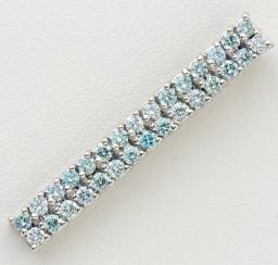 アイスブルーダイヤモンドの買取事例01_アイスブルーダイヤモンド ペンダントトップ
