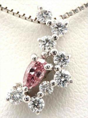 カラーダイヤモンドの買取事例05_ピンクダイヤモンドのネックレス