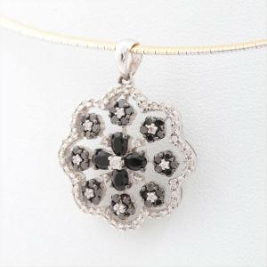 カラーダイヤモンドの買取事例06_ブラックダイヤのネックレス