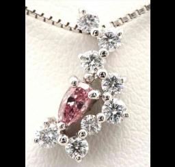 ピンクダイヤモンドの買取事例03_ピンクダイヤモンド ネックレス