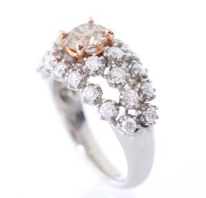 カラーダイヤモンドの買取事例03_ブラウンダイヤモンドのリング