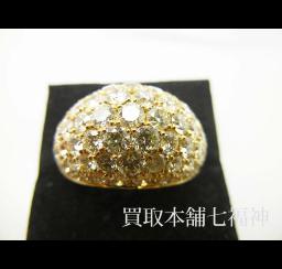 イエローダイヤモンドの買取事例01_イエローダイヤモンド リング